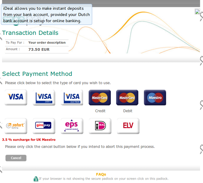 Payment Page SagePay